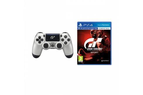Sony Dual Shock 4 pro PS4 v2 - Gran Turismo Sport edice + hra  Gran Turismo Sport (PS719932468) Příslušenství pro Playstation